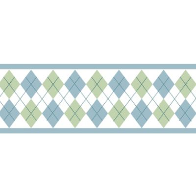 Sweet Jojo Designs Argyle Wallpaper Border in Blue/Green