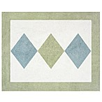 Sweet Jojo Designs Argyle Floor Rug in Blue/Green