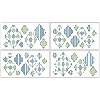 Sweet Jojo Designs Argyle Wall Decals in Blue/Green