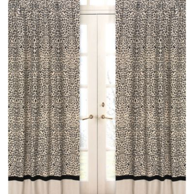 Sweet Jojo Designs Animal Safari 84-Inch Window Panels (set of 2)