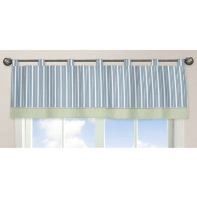 Sweet Jojo Designs Argyle Window Valance in Blue/Green