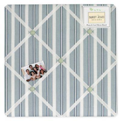 Sweet Jojo Designs Argyle Fabric Memo Board in Blue/Green
