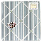 Sweet Jojo Designs Argyle Fabric Memo Board in Blue/Green