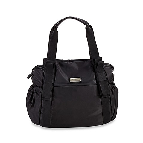 kenneth cole reaction bow to it large tote diaper bag in black buybuy baby. Black Bedroom Furniture Sets. Home Design Ideas