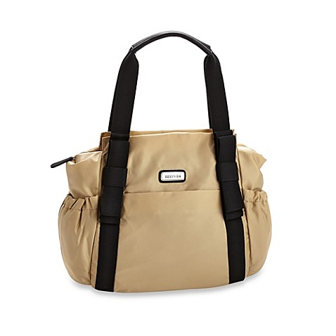 buy kenneth cole reaction bow to it large tote diaper bag in sand from bed bath beyond. Black Bedroom Furniture Sets. Home Design Ideas