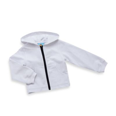 Baby Buns Lifeguard Hoodie Cover-Up in White