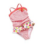 Baby Buns Summer Bubbles 1-Piece Swimsuit in Coral