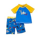Baby Buns Lil Yellow Submarine 2-Piece Rashguard Swim Set