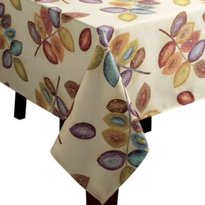 Croscill® Mosaic Leaves 60-Inch x 84-Inch Tablecloth
