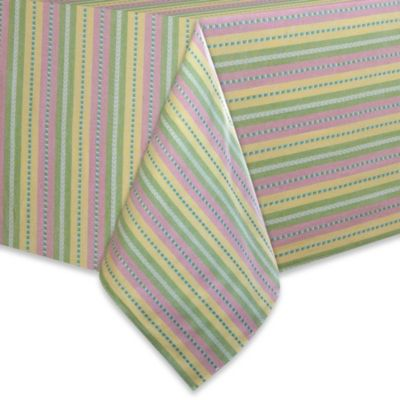 Garden Stripe 70-Inch Round Tablecloth