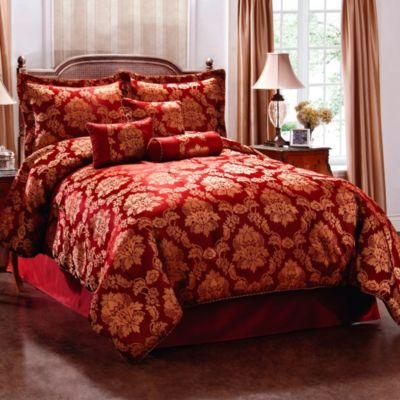 Comforter Set Red Gold