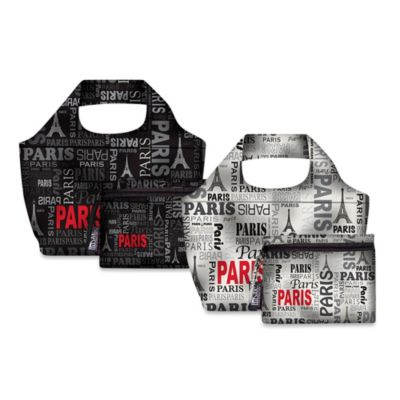 Design House LA™ Paris Reusable Shopping Bag and Lunch Cooler
