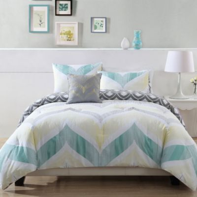 Buy blue and yellow comforters from bed bath beyond - Yellow and blue bedding queen ...