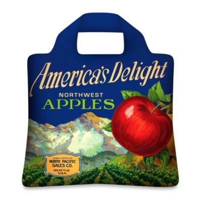 Design House LA™ Apple Reusable Shopping Bag (Set of 2)