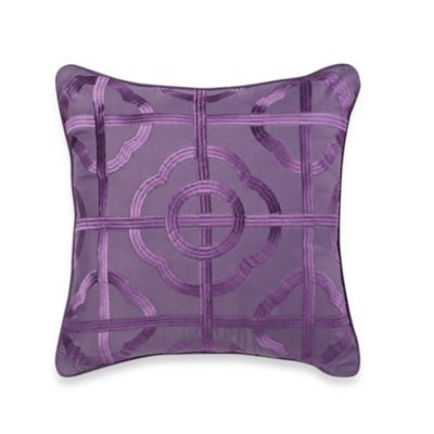 Etched Floral Square Toss Pillow