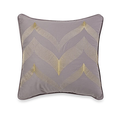 White Square Throw Pillows : Buy Fine Line Square Throw Pillow in White/Sage from Bed Bath & Beyond