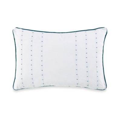 Charisma Como Como Oblong Toss Pillow in White