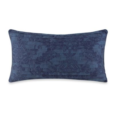Charisma Como Oblong Toss Pillow in Navy Blue