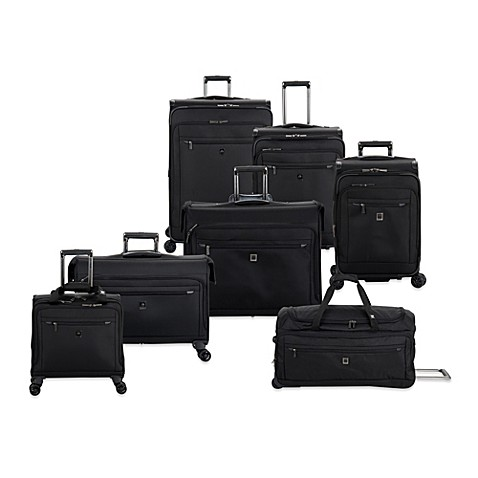 delsey helium x 39 pert lite 2 0 expandable spinner trolley collection in black bed bath beyond. Black Bedroom Furniture Sets. Home Design Ideas