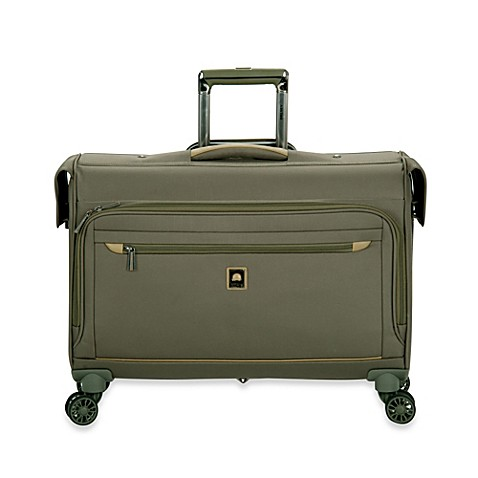buy delsey helium x 39 pert lite 2 0 22 inch carry on spinner trolley garment bag in green from bed. Black Bedroom Furniture Sets. Home Design Ideas