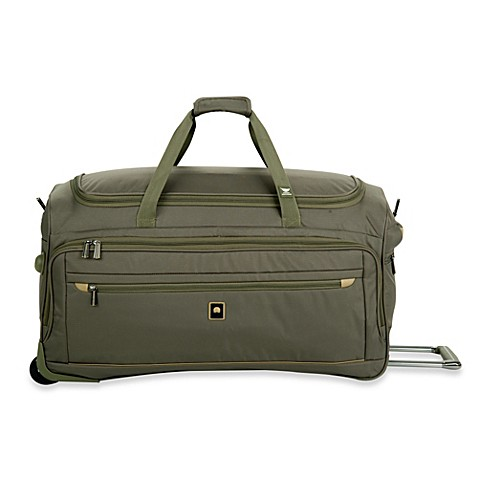 buy delsey helium x 39 pert lite 2 0 28 inch wheeled trolley duffel bag in green from bed bath beyond. Black Bedroom Furniture Sets. Home Design Ideas