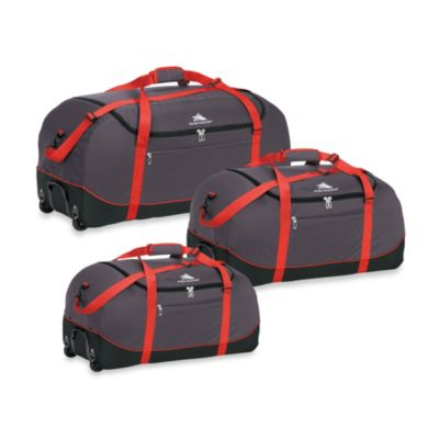 High Sierra 24-Inch Wheel-N-Go Duffle Bag in Red