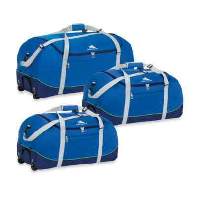 High Sierra 24-Inch Wheel-N-Go Duffle Bag in Blue