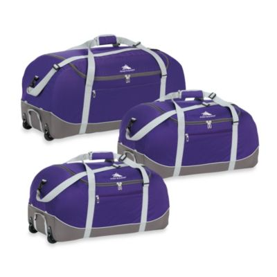 High Sierra 36-Inch Wheel-N-Go Duffle Bag in Purple