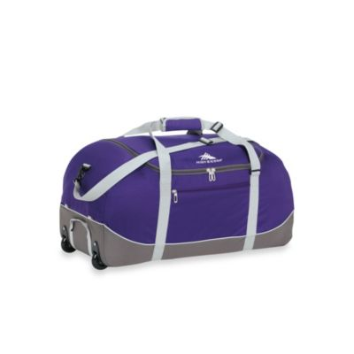 High Sierra 24-Inch Wheel-N-Go Duffle Bag in Purple