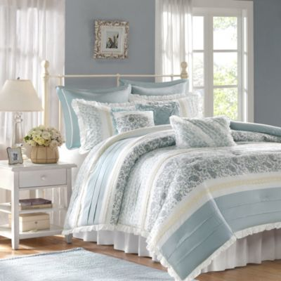 The Madison Park Dawn Collection 9-Piece Queen Comforter Set