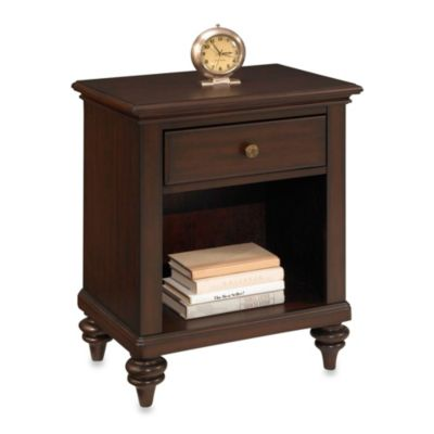 Home Styles Bermuda Night Stand in Brushed White