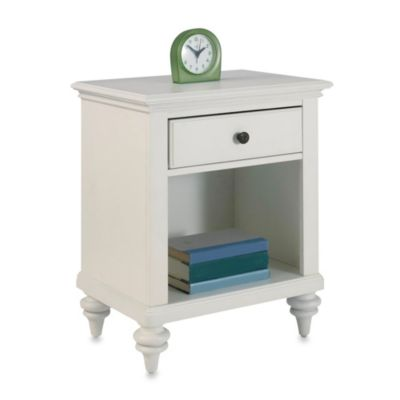Home Styles Bermuda Nightstand in Brushed White