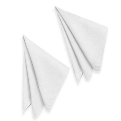 Basketweave Napkins in White (Set of 2)