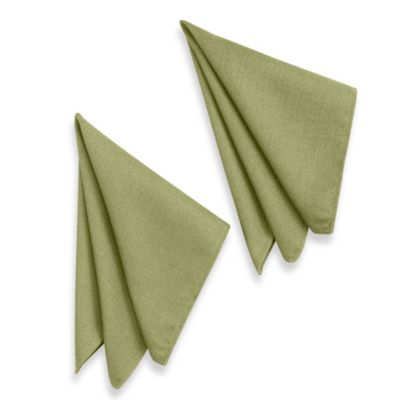 Basketweave Napkins in Sage (Set of 2)
