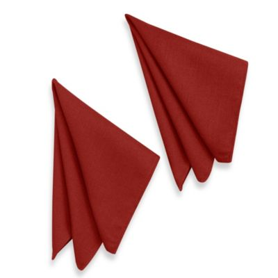 Basketweave Napkins in Cherry (Set of 2)