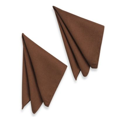 Basketweave Napkins in Bark (Set of 2)