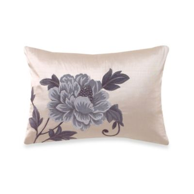Charisma Amelia Blue Decorative Oblong Toss Pillow
