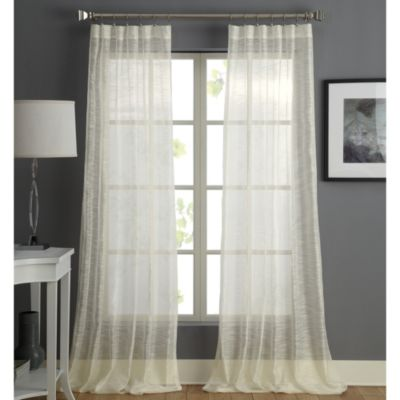 Sera Rod Pocket Sheer Window Curtain Panel