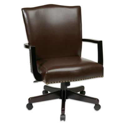 Office Star Products® Bassett Morgan Manager Chair in Crimson