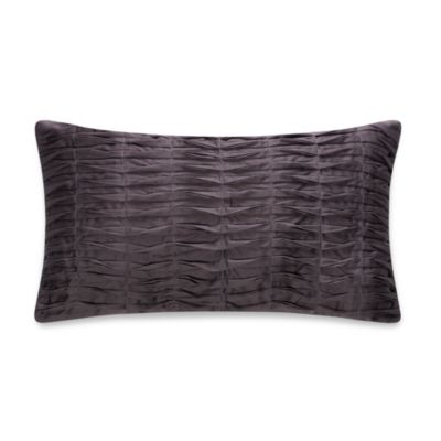 Anthology™ Whisper Pleated Oblong Toss Pillow in Pewter