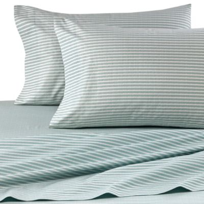Real Simple® Camille Ikat Stripe King Sheet Set in Aqua