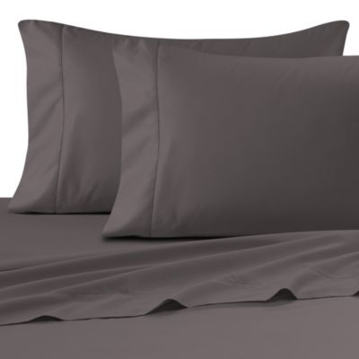 Wamsutta® Ultra Soft Sateen 525-Thread-Count Queen Fitted Sheet in Grey