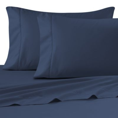 Wamsutta® Ultra Soft Sateen Queen Fitted Sheet in Navy