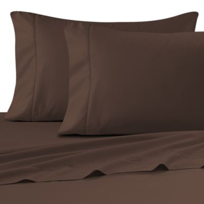 Wamsutta® Ultra Soft Sateen 525-Thread-Count Full Fitted Sheet in Chocolate