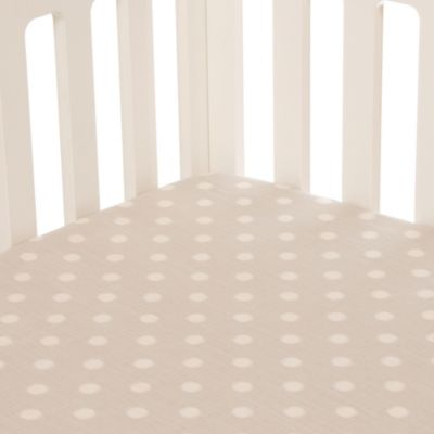 Glenna Jean Fly-By Fitted Crib Sheet in Grey Dot