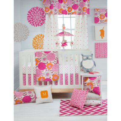 Gray Pattern Crib Bedding