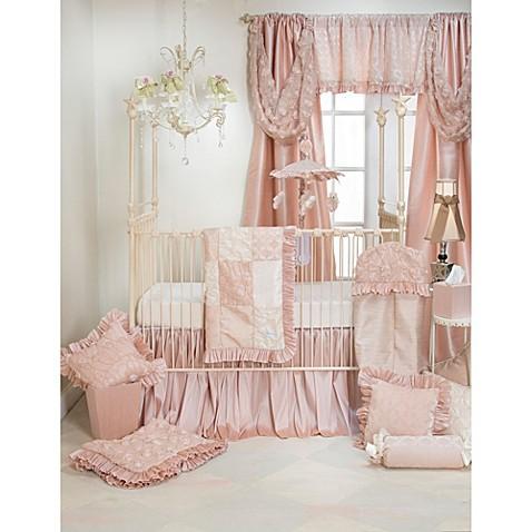 Glenna Jean Paris 3 Piece Crib Bedding Set In Pink Cream