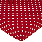 Sweet Jojo Designs Ladybug Polka Dot Fitted Crib Sheet in Red/Black