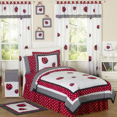 Sweet Jojo Designs Ladybug 4-Piece Twin Comforter Set