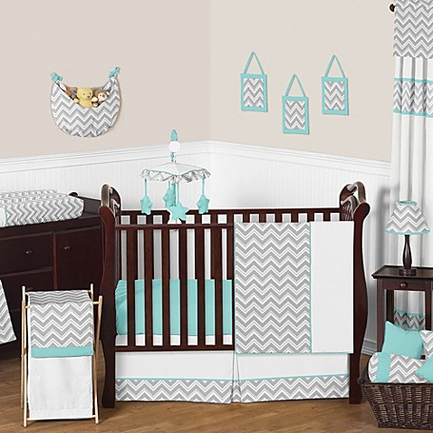 Sweet jojo designs zig zag 11 piece crib bedding set in for Zig zag bedroom ideas